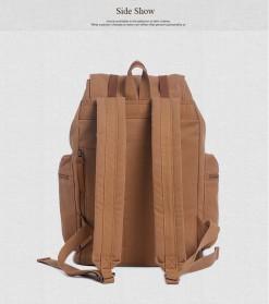 Augur Tas Ransel Canvas School Backpack - Black - 5
