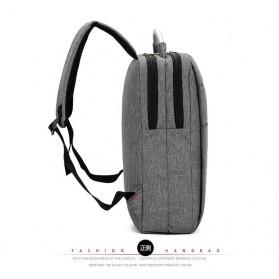 Tas Ransel Laptop Square Fashion Bag - Black - 3
