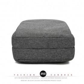 Tas Ransel Laptop Square Fashion Bag - Black - 5