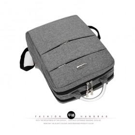 Tas Ransel Laptop Square Fashion Bag - Black - 6