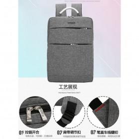 Tas Ransel Laptop Square Fashion Bag - Black - 7
