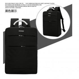 Tas Ransel Laptop Square Fashion Bag - Black - 8