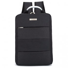 Tas Ransel Laptop Square Trendy Bag - Black