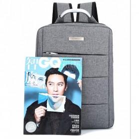 Tas Ransel Laptop Square Trendy Bag - Black - 2