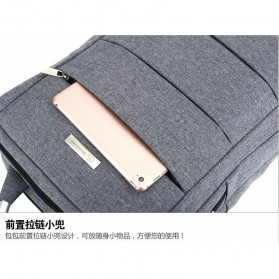 Tas Ransel Laptop Square Trendy Bag - Black - 4