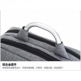 Tas Ransel Laptop Square Trendy Bag - Black - 5