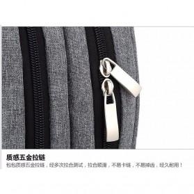 Tas Ransel Laptop Square Trendy Bag - Black - 6
