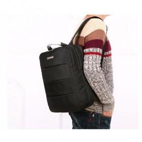 Tas Ransel Laptop Square Trendy Bag - Black - 8
