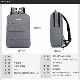Tas Ransel Laptop Square Trendy Bag - Black - 9