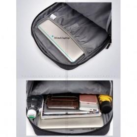 TUGUAN Tas Ransel Laptop USB Charger Port - CF-1782 - Black - 3