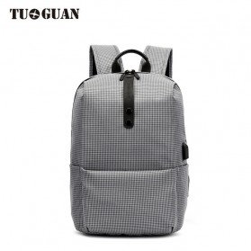 TUGUAN Tas Ransel Laptop USB Charger Port - CF-1782 - Gray