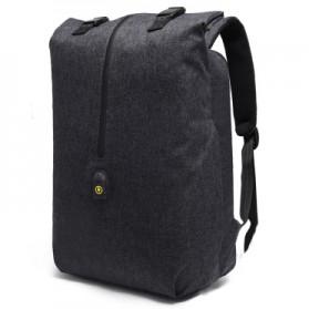 Tas Ransel Roll Top Travel Backpack dengan USB Charger Port - Dark Gray - 1