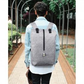 Tas Ransel Roll Top Travel Backpack dengan USB Charger Port - Light Gray - 5