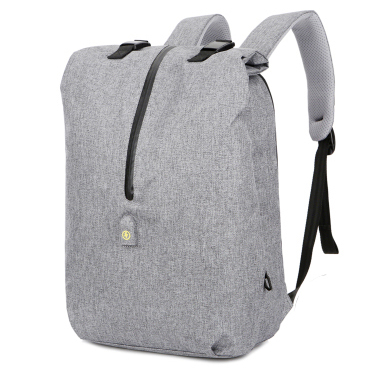 ... Tas Ransel Roll Top Travel Backpack dengan USB Charger Port - Light  Gray - 1 ... f4e14d68b360d