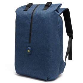 Tas Ransel Roll Top Travel Backpack dengan USB Charger Port - Blue - 1