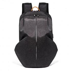 Tas Ransel Laptop Fashion dengan USB Charger Port - Black - 2
