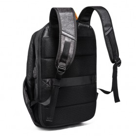 Tas Ransel Laptop Fashion dengan USB Charger Port - Black - 3
