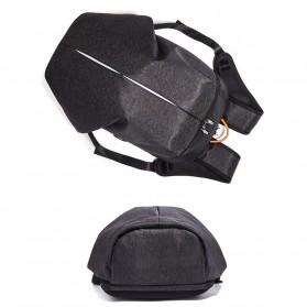 Tas Ransel Laptop Fashion dengan USB Charger Port - Black - 4