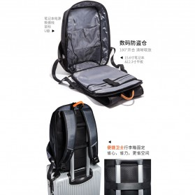 Tas Ransel Laptop Fashion dengan USB Charger Port - Black - 5