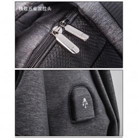 Tas Ransel Stylis dengan USB Charger Port - Gray - 5