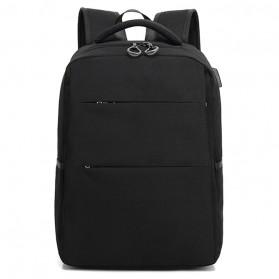 Tas Ransel Laptop Modern dengan USB Charger Port - Black