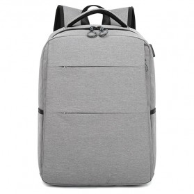 Tas Ransel Laptop Modern dengan USB Charger Port - Gray