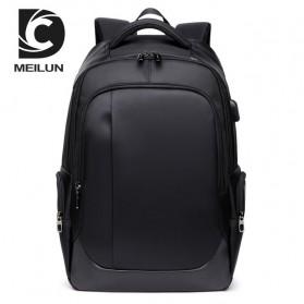 Tas Ransel Business Backpack dengan USB Charger Port - Black