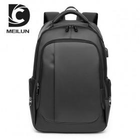 Tas Ransel Business Backpack dengan USB Charger Port - Gray