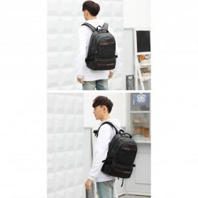 Tas Ransel Laptop Back to School Bag - Black - 5