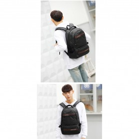 Tas Ransel Laptop Back to School Bag - Black - 6