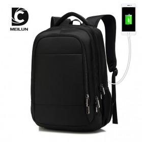 Tas Ransel Sekolah dengan USB Charger Port - Black
