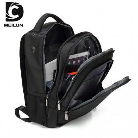 Tas Ransel Sekolah dengan USB Charger Port - Black - 2