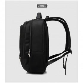 Tas Ransel Sekolah dengan USB Charger Port - Black - 7