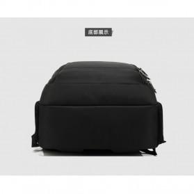 Tas Ransel Sekolah dengan USB Charger Port - Black - 8