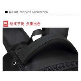 Tas Ransel Sekolah dengan USB Charger Port - Black - 9