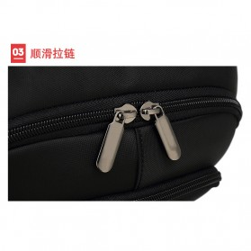 Tas Ransel Sekolah dengan USB Charger Port - Black - 10
