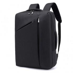Tas Ransel Laptop Classical Design - Black - 1
