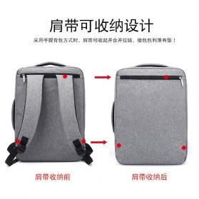 Tas Ransel Laptop Classical Design - Black - 8