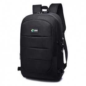 Tas Ransel Laptop Classical Design dengan USB Charger Port - Black - 2
