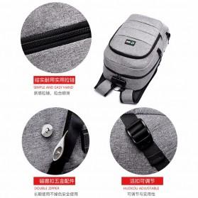 Tas Ransel Laptop Classical Design dengan USB Charger Port - Black - 3