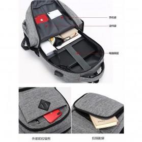 Tas Ransel Laptop Sekolah dengan USB Charger Port - Gray - 2