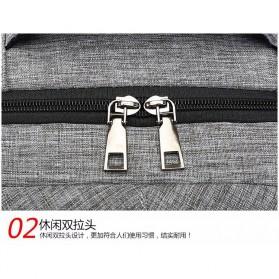 Tas Ransel Laptop Sekolah dengan USB Charger Port - Gray - 5