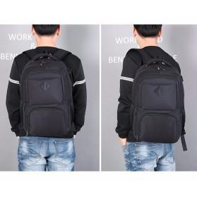 Tas Ransel Laptop Sekolah dengan USB Charger Port - Gray - 10
