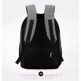 Tas Ransel Laptop Minimalist Design dengan USB Charger Port - Black - 2
