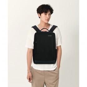 Tas Ransel Laptop Fashion Design dengan USB Charger Port - Black - 1