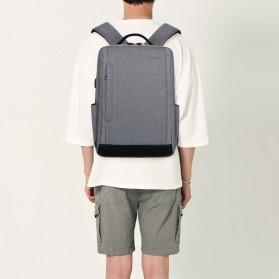 Tas Ransel Laptop Fashion Design dengan USB Charger Port - Black - 3