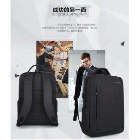 Tas Ransel Laptop Fashion Design dengan USB Charger Port - Black - 5