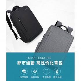 Tas Ransel Laptop Fashion Design dengan USB Charger Port - Black - 6