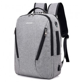 Tas Ransel Laptop Security Lock dengan USB Charger Port - MR6320 - Gray
