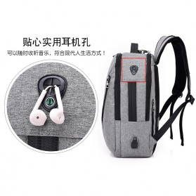 Tas Ransel Laptop Security Lock dengan USB Charger Port - MR6320 - Gray - 2